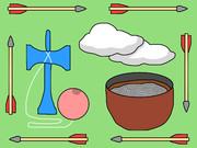 やけくそ (矢、けん玉、雲、蕎麦(そば))