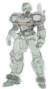 8式格闘機「銑鉄」ラフ