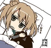 眠る司令官をぎゅっと