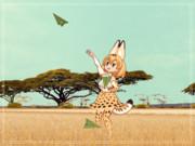 【モデル配布】かばんちゃんの紙飛行機