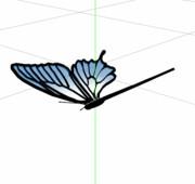 【MMDモデル配布あり】アゲハ蝶