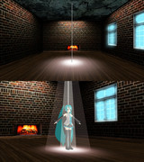 【MMD】暖炉がある レンガの部屋【ステージ配布】