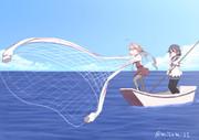 投網漁をする巻雲