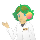 JR8DAGのAM & QRP ホームページのイメージキャラクターのゆめこ(白衣)