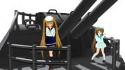 【MMD艦これ】89式12.7cm高角砲防煙盾付き