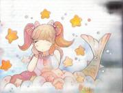 ツインテールの人魚姫。