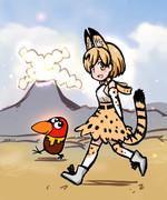 けものフレンズ サーバルちゃんとキョロちゃん