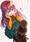 「作ってしまった…!私特製の(タイツ)チョコケーキ!」