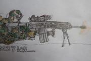 M27IARと海兵隊員