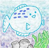幸せそうなフグを描いて見たかった^^