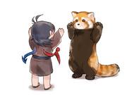 ぬえ対レッサーパンダ