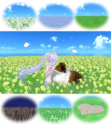 【MMD】揺らぐお花畑と草むら【ステージ配布】