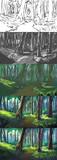 【メイキング】森の中【描き方】