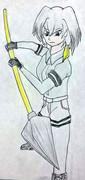 槍装備のハシビロちゃん