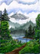 神秘的な山
