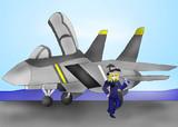 F-14と魔理沙