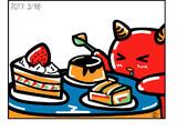 ウェザーニュース、ソライブ美術館3月15日分:お題「定食」