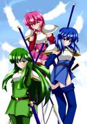 白騎士団三姉妹