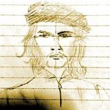 前に描いたある歴史上の人物の絵(似てないけど)