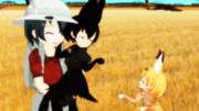 黒サーバルちゃんに嫉妬するサーバルちゃん(*´ω`*)