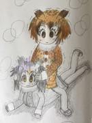 初描きコノハ博士&ミミちゃん助手