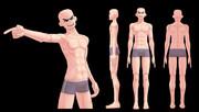 男性素体Type001 モデル配布