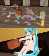【モデル配布】 液面調整グラス・デキャンタセット【MMD】