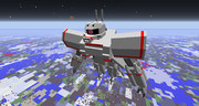 【minecraft】サイコミュ高機動試験用ザクを作ってみた【jointblock】