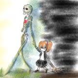 骸骨と少女