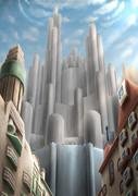 シンプラルタウンの巨城