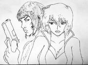 アニメと実写の草薙素子
