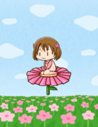 【GIFアニメ】お花バイクに乗る山水木さん【完成版】