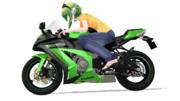 バイクとグミさん