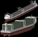 6,500TEU class geared container ship