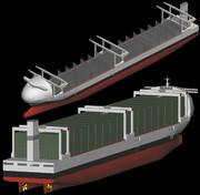 6,500TEU class geared container ship