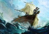 sw2.0リプレイ絵1「海賊退治へ出航」