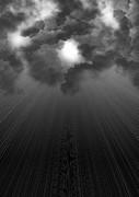 背景素材(雲間から差し込む光)
