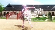 ゆかりちゃんに桜の枝を持ってるようにしてみた