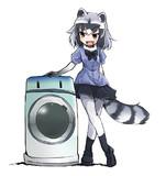 洗濯機を使い始めたアライさん