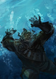 sw2.0リプレイ絵3「海中戦:溺れドワーフ」