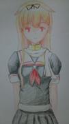 初の色鉛筆画