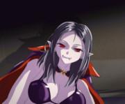 女吸血鬼さんに襲われるGIFアニメ