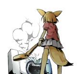 洗濯機を壊すフェネック