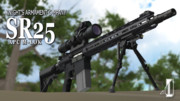 【提供開始】K○C SR25 APC/APR【MMDモデルデータ】