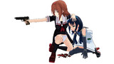 銃撃から妹を庇って反撃するお姉さん 【ぽんぷ長式白露/773式涼風】
