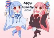 茜ちゃん葵ちゃんのお誕生日