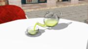 注げるガラスティーセット+汎用流体配布
