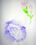 昔描いた花②