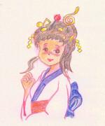 CeVIO金咲小春さん低年齢化  色鉛筆絵