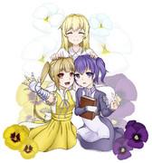 パンジー三姉妹